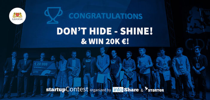 Don't hide, Shine! InfoShare Startup contest is on the horizon