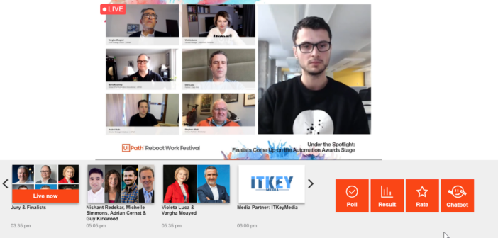 Screenshot From The UiPath 2020 Automation Awards Livestream